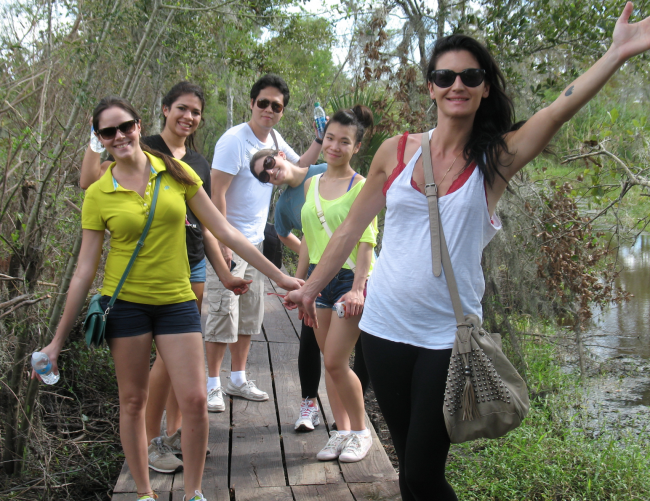 LIEP students go to the Barataria swamp on a class trip.