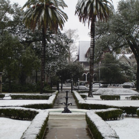 Broadway Campus covered in snow