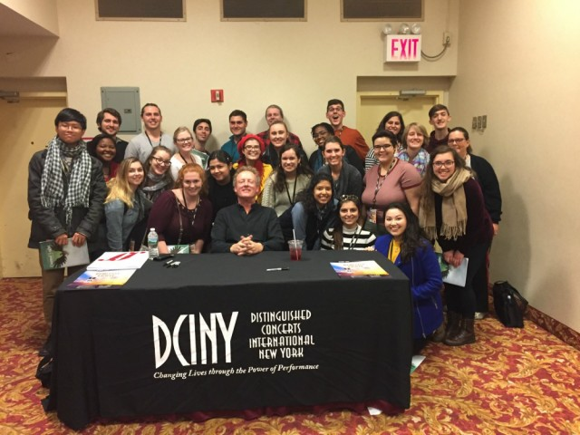 Loyola students and composer Howard Goodall