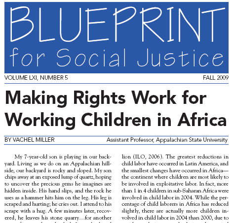 Blueprint for Social Justice